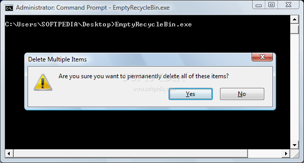 how to clear re ecycle bin using cmd
