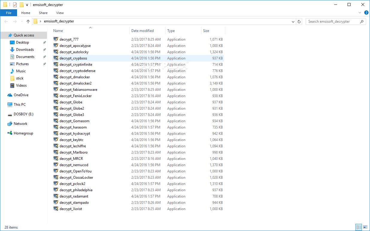 Download Emsisoft Decrypter Tools 20 09 2017