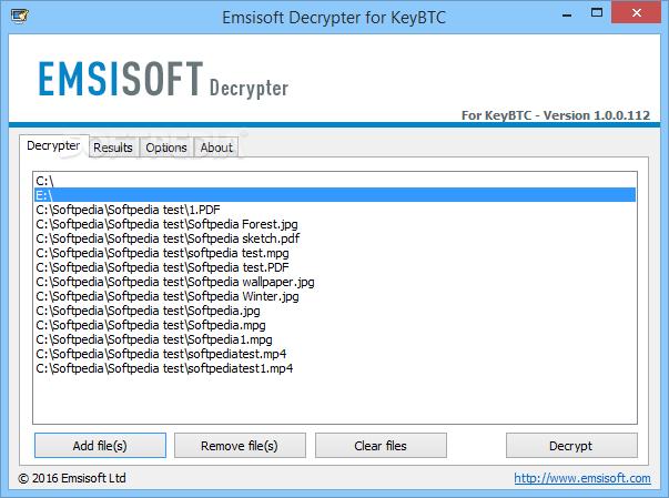 Download Emsisoft Decrypter for KeyBTC 1 0 0 112