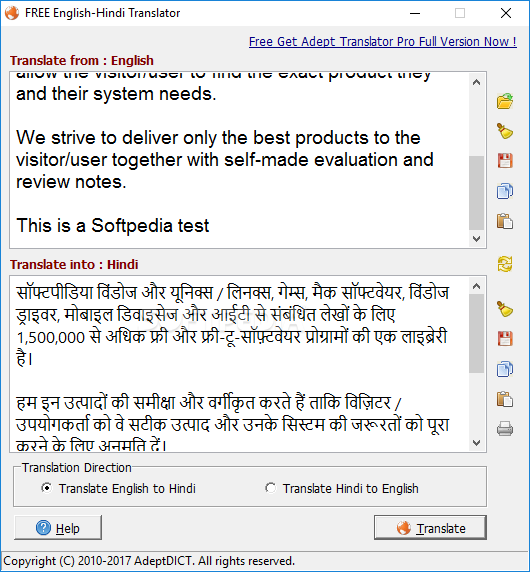 best english to hindi translation software free download