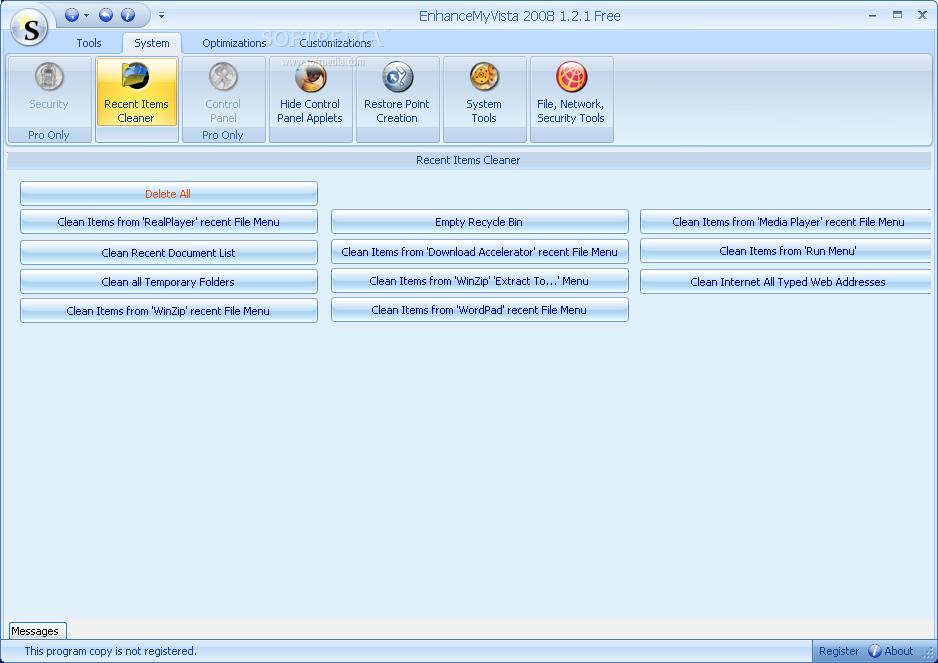 EnhanceMyVista (free version) download for PC