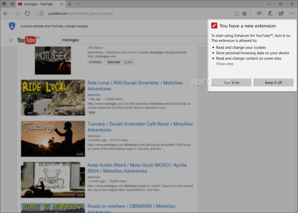 Download Enhancer for YouTube for Microsoft Edge 2 0 98 0