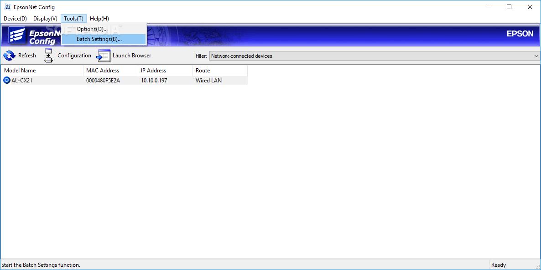 Epsonnet Setup