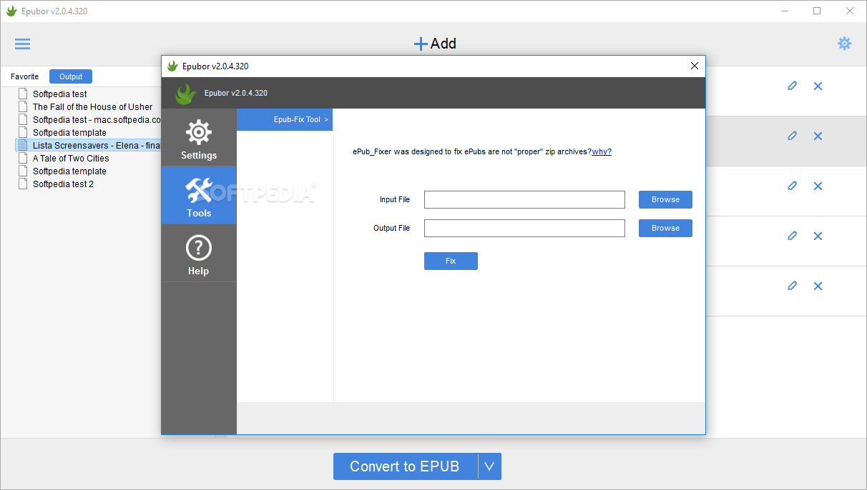 Download Epubor EPUB to Kindle Converter 2 0 2 8