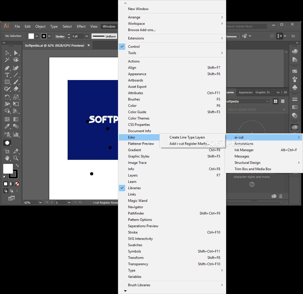 Download Esko ai-cut for Adobe Illustrator 18 1 0 Build 16
