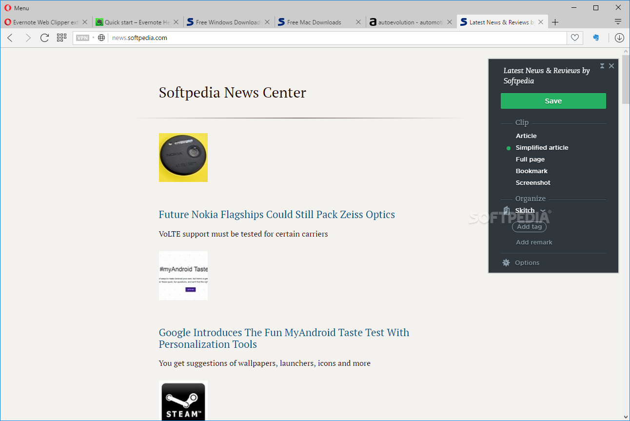 Download Evernote Web Clipper for Opera 6 13 2
