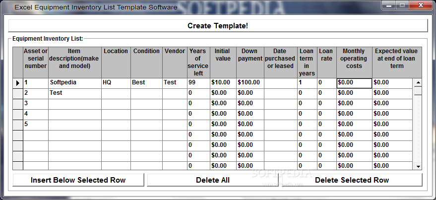 Excel Equipment Inventory List Template Software Download – Excel Inventory List Template