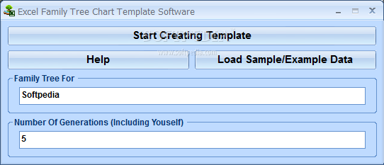 Excel Family Tree Chart Template Software