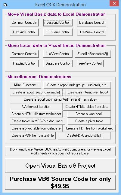 Download Excel OCX 2 7