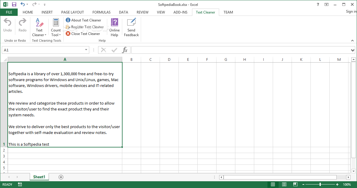 how to clear text in excel