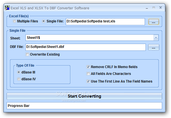 Excel to dbf converter download.