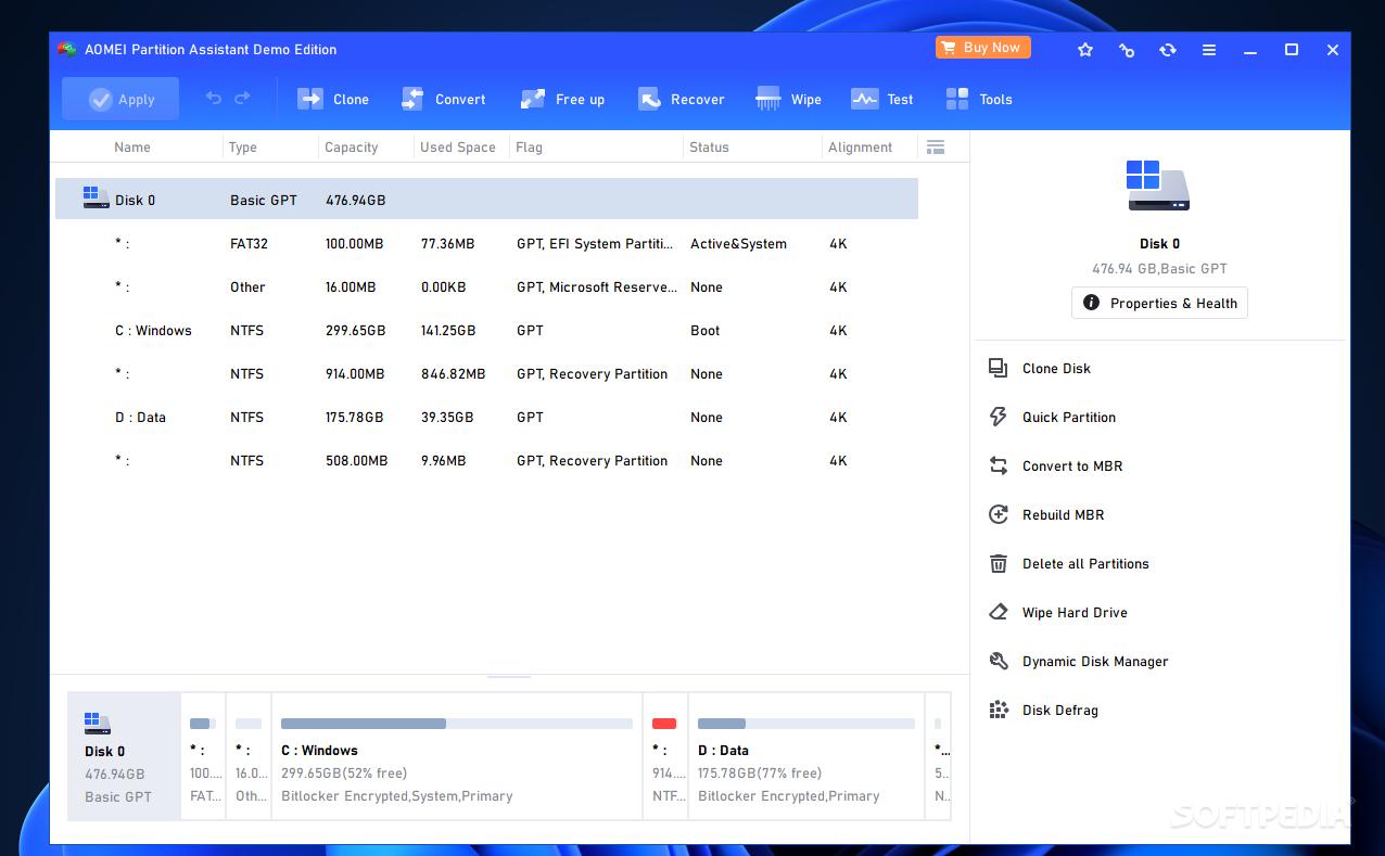 aomei partition assistant server edition 7.0