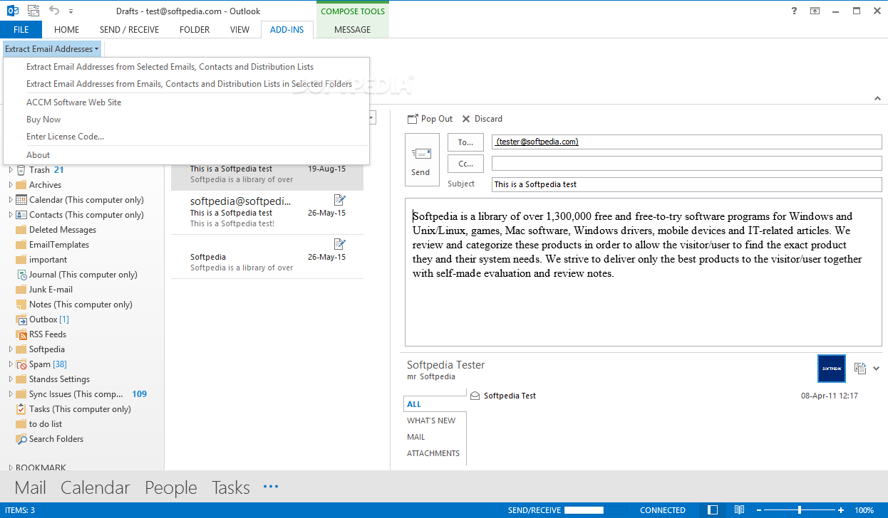 how to send an email on outlook mail