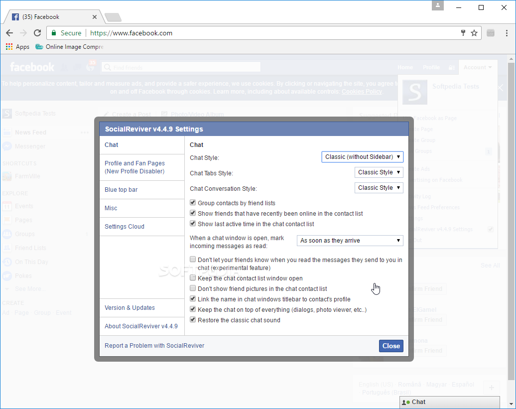 fb chat sidebar disabler chrome