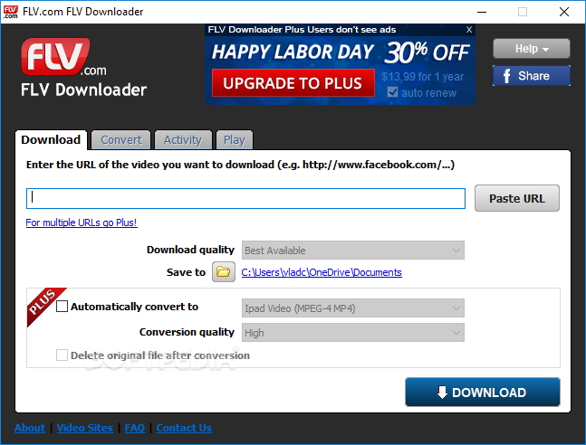 Download FLV com FLV Downloader 11 8