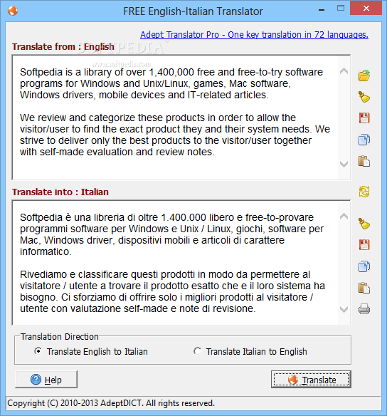 Translator Italian: DOWNLOAD FREE English-Italian Translator 2.3.0 + Crack