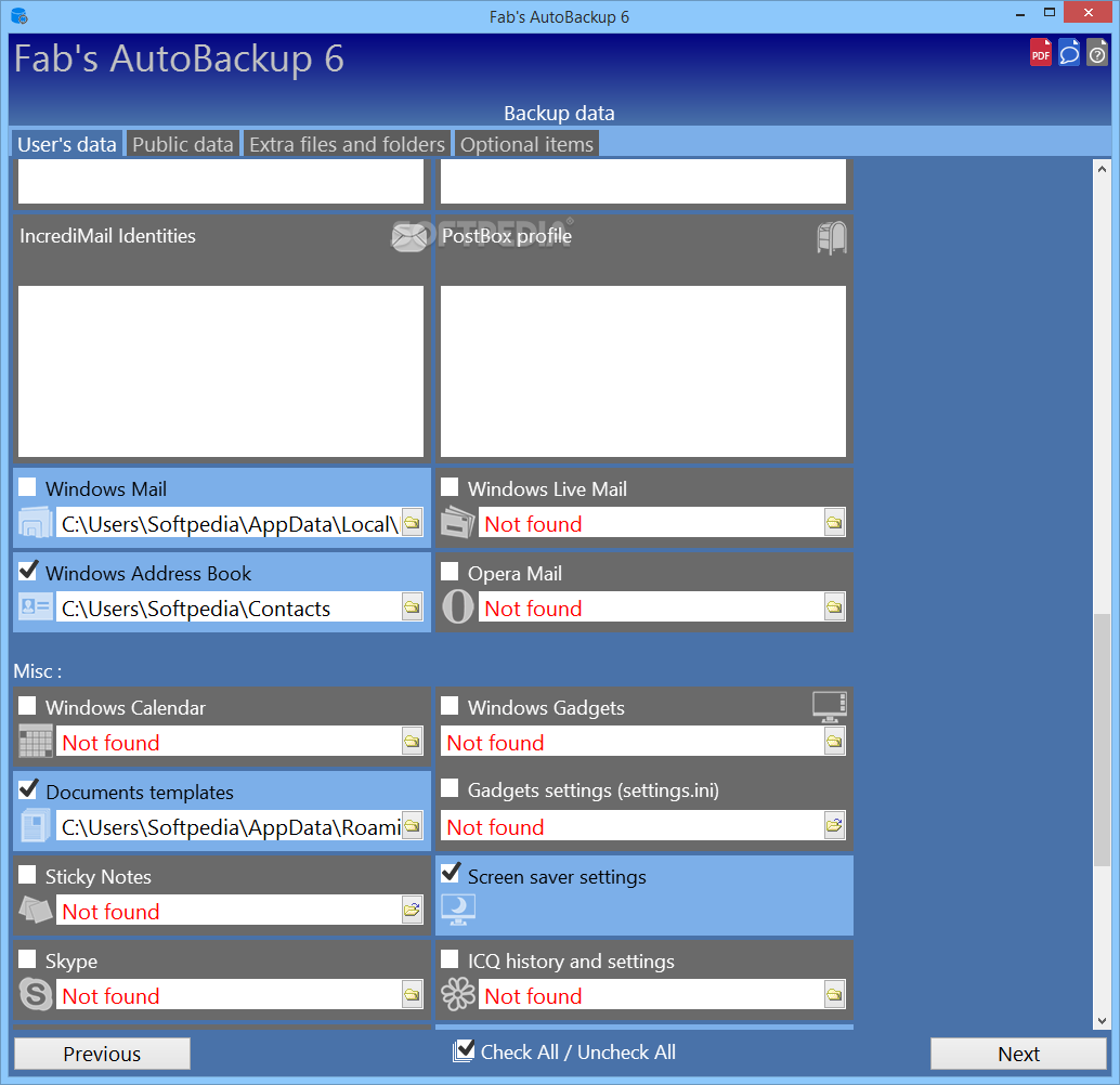 Fab Template: Download Fab's AutoBackup 7.1.2 Build 1382