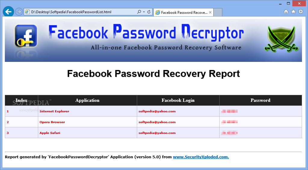 DECRYPTOR PASSWORD TÉLÉCHARGER FACEBOOK