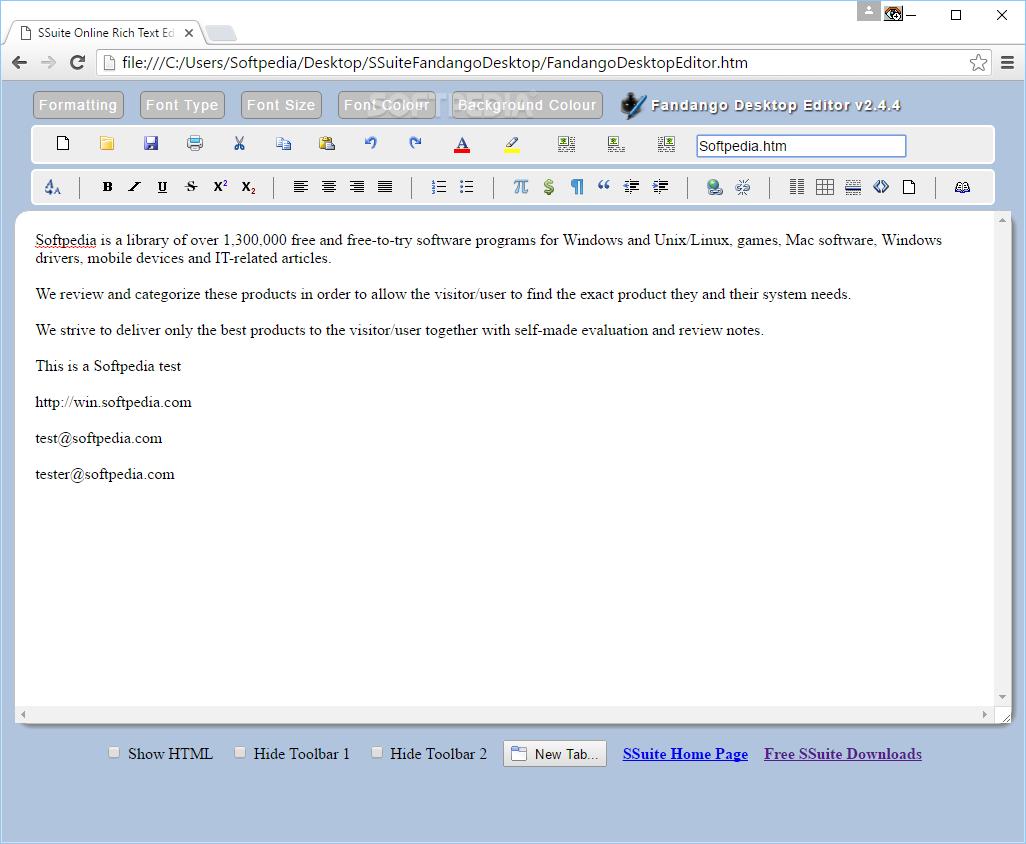 Download Fandango Desktop Editor 2 4 4 4