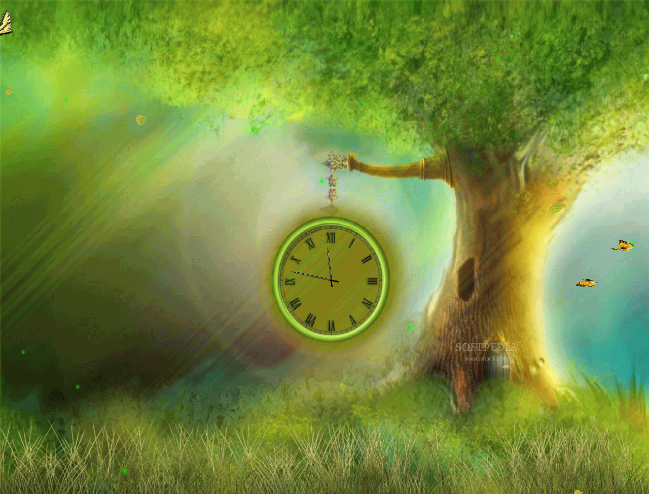 Download Fantasy Clock Animated Wallpaper 100