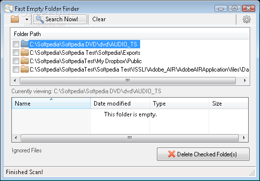 how to delete folder contents from outlook android