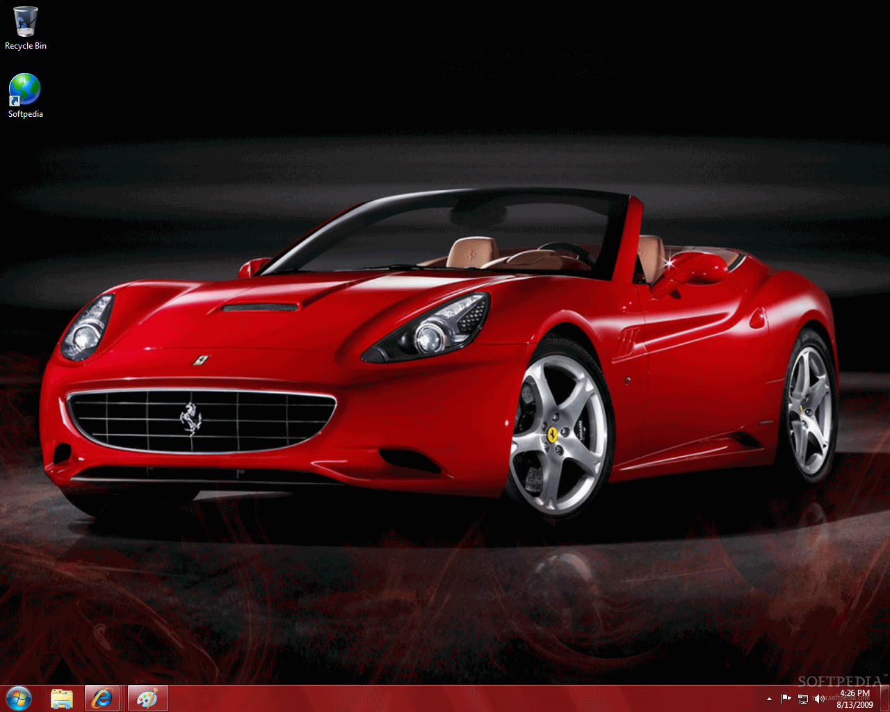 download ferrari windows 7 desktop theme