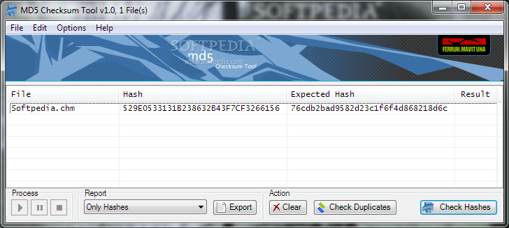 how to add to an md5 file
