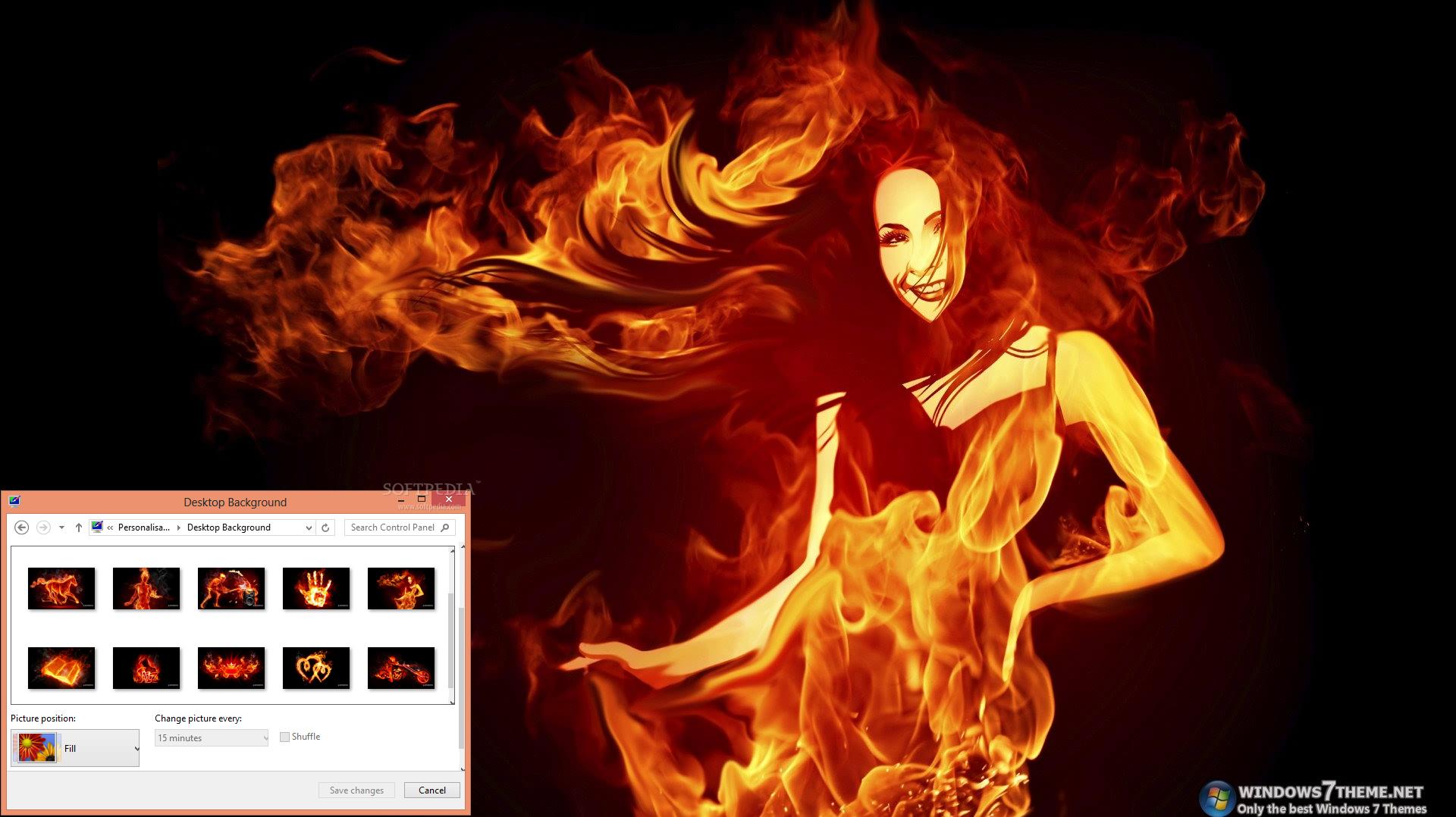 download fiery art windows 7 theme 1 00