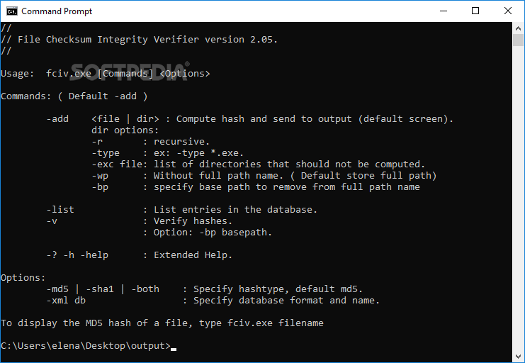Download Microsoft File Checksum Integrity Verifier 2 05