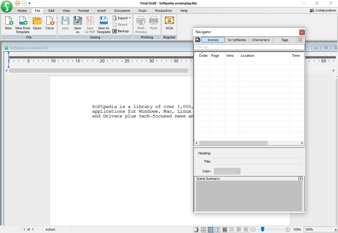 final draft mac download free