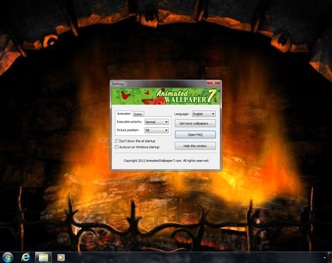 Download Fireplace Animated Wallpaper 100