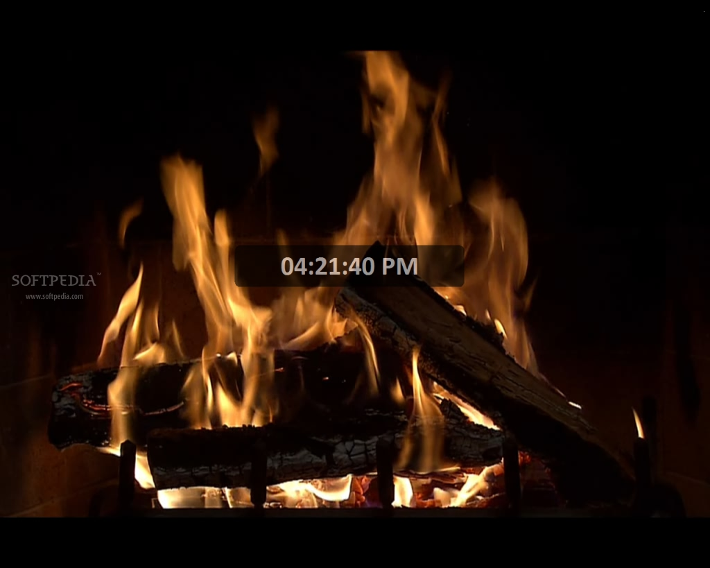 Animated Fireplace Screensaver