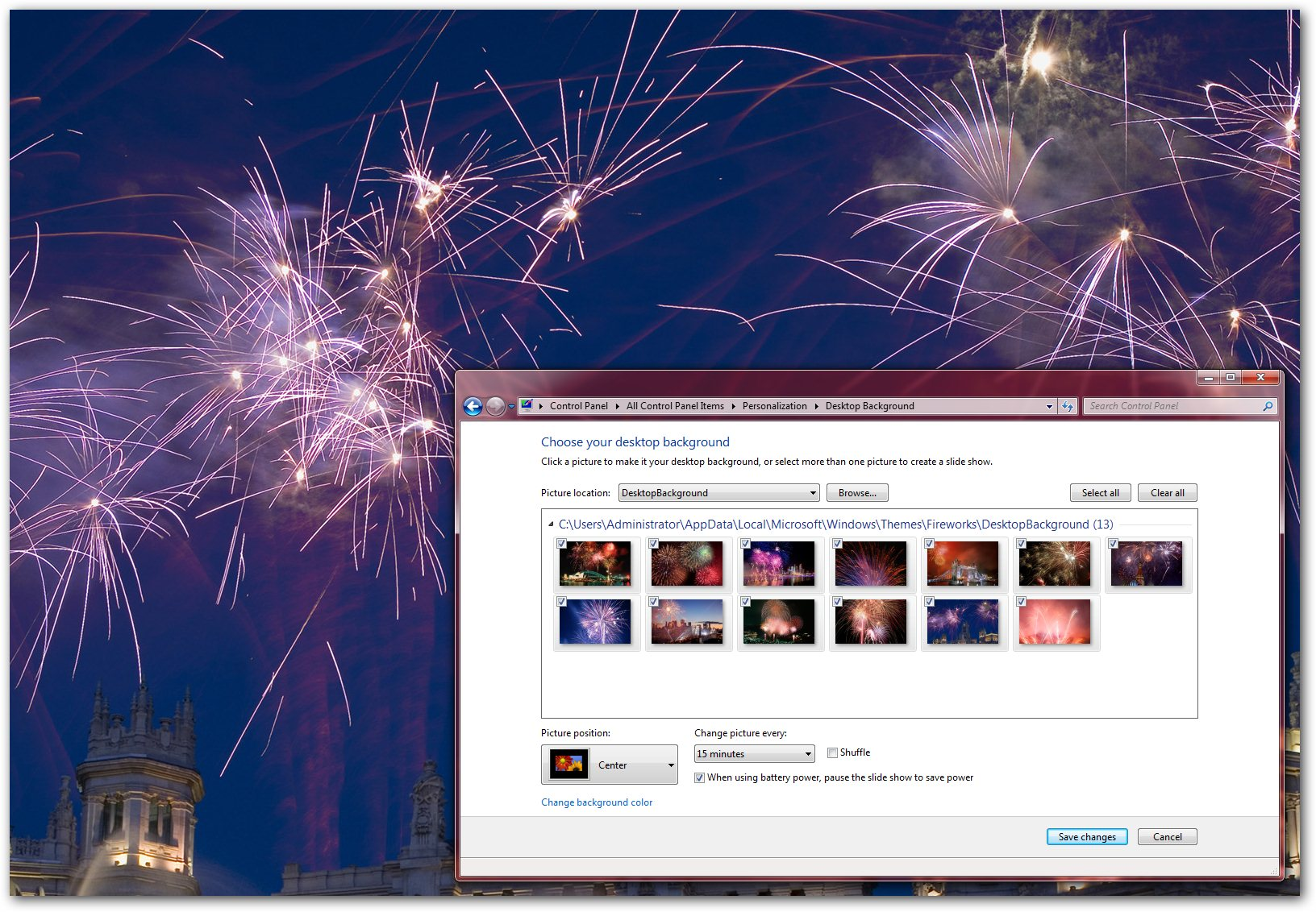 fireworks windows 7 theme give a cheer 2011 is here spark your new