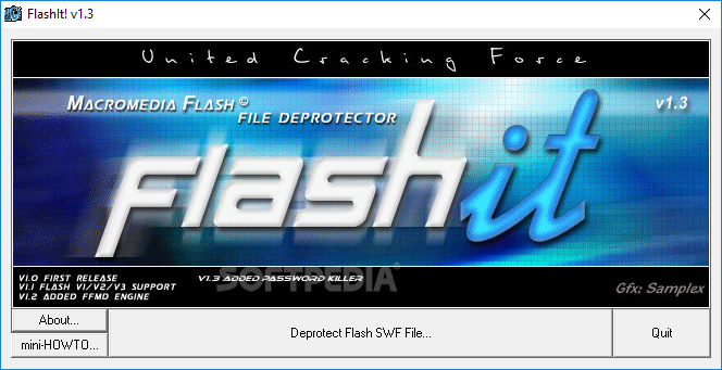Download FlashIt! - Macromedia Flash SWF Files Deprotector 1 3