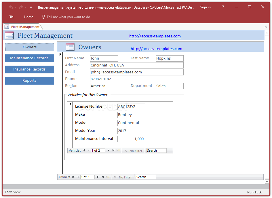 access control policy template - download fleet management system access database templates 1 0