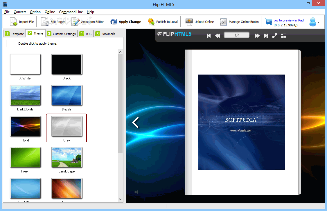 pdf viewer flip page jquery