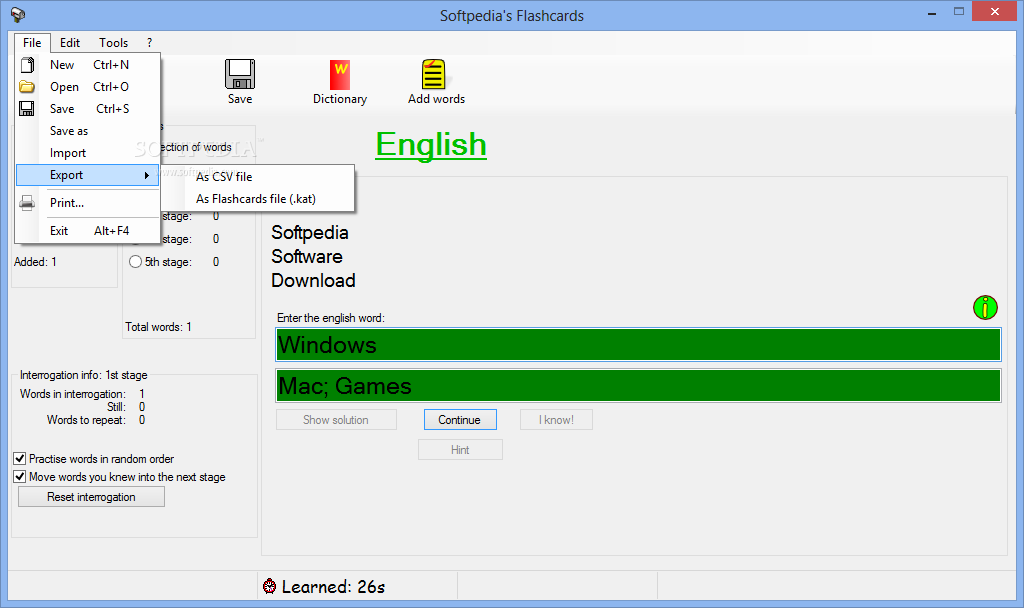Download Flashcards 2 5 4 0