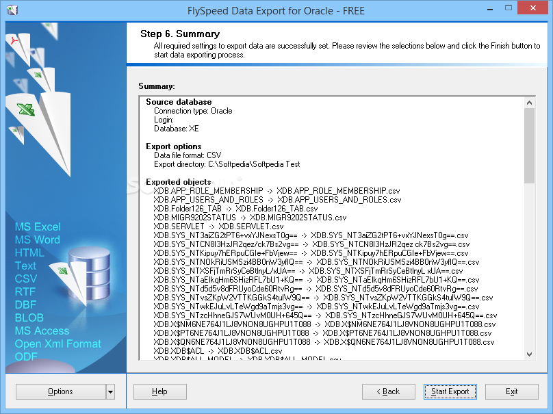 Download FlySpeed Data Export for Oracle 5 6 Build 5601
