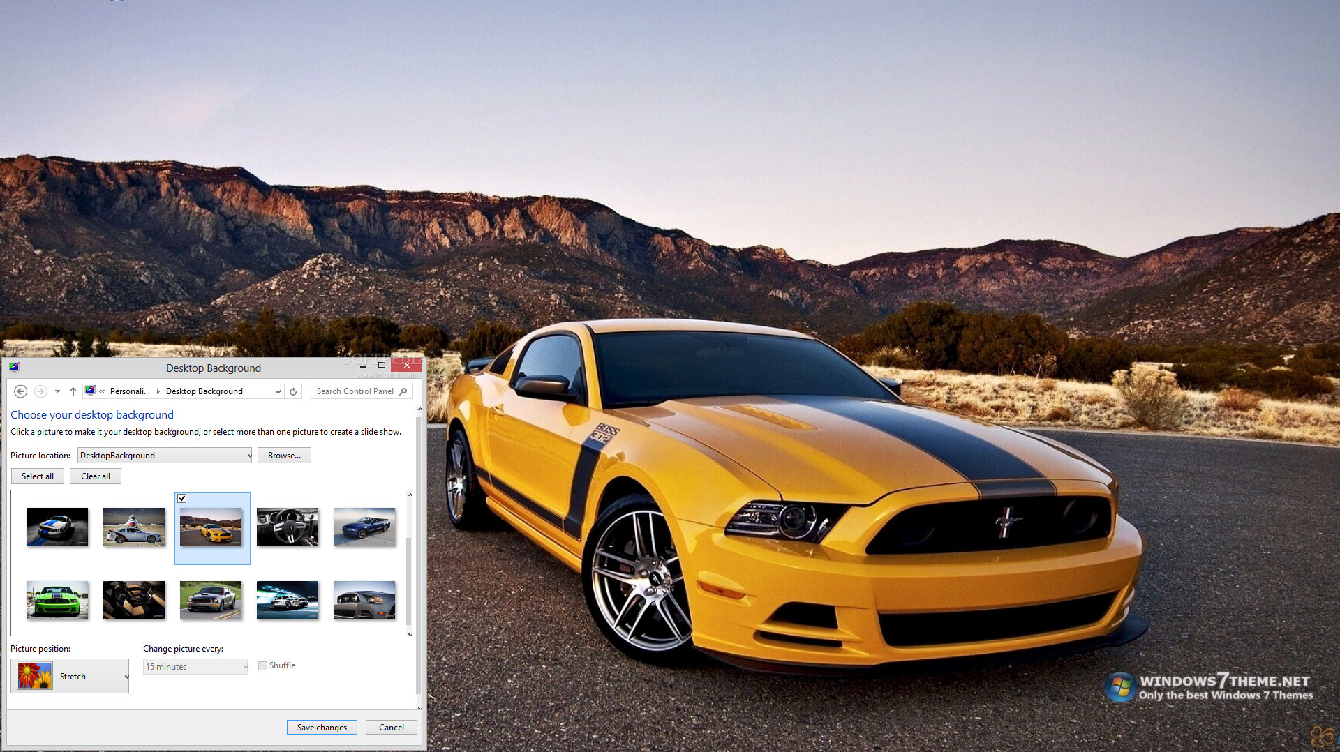 Windows 7 Ford Mustang Theme