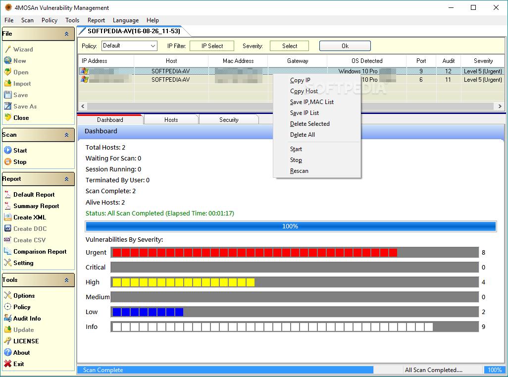 Download 4MOSAn Vulnerability Management Portable 5 0 4 6