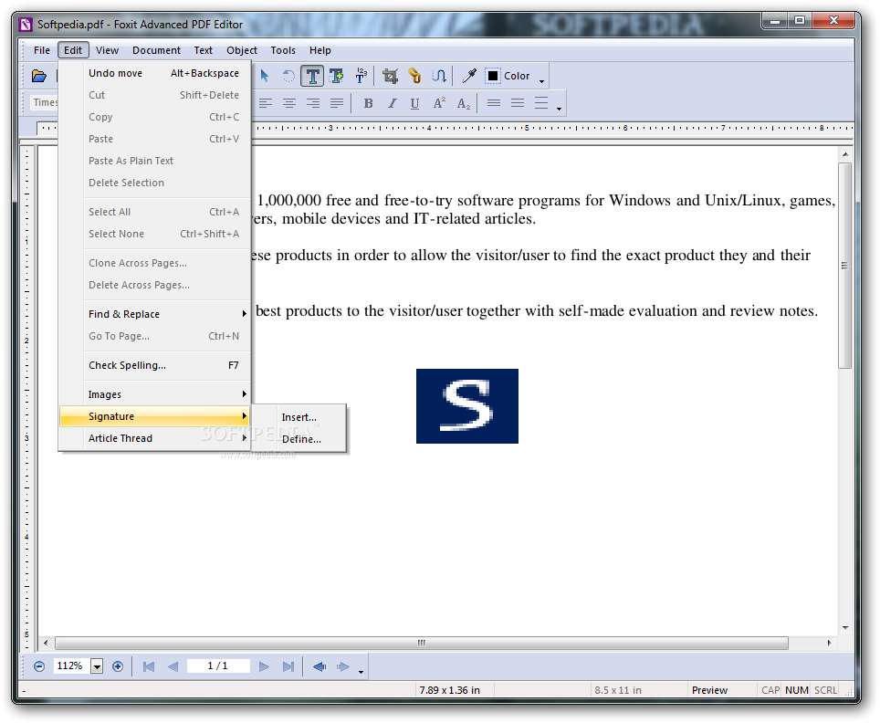 Download Foxit Advanced PDF Editor 3.10