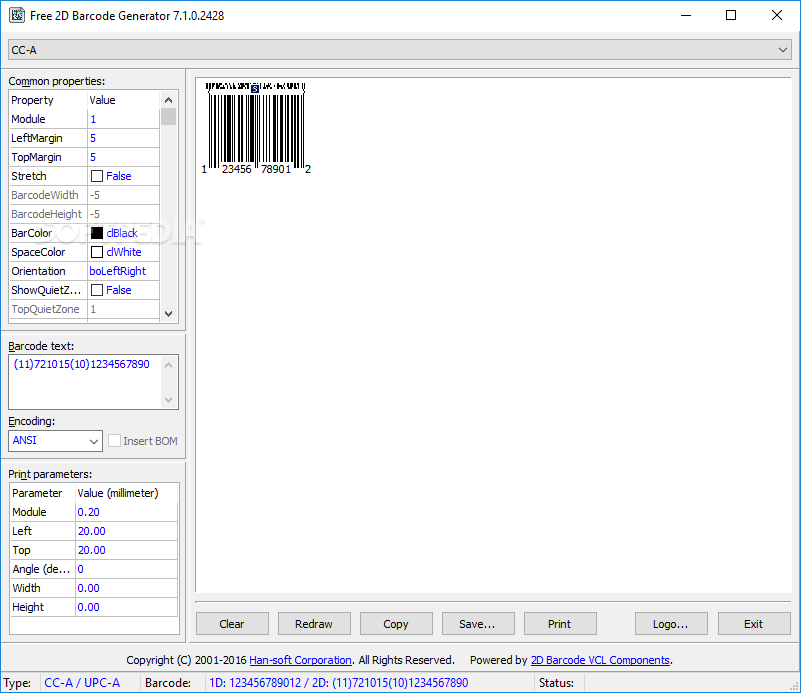barcode generator software free download freeware