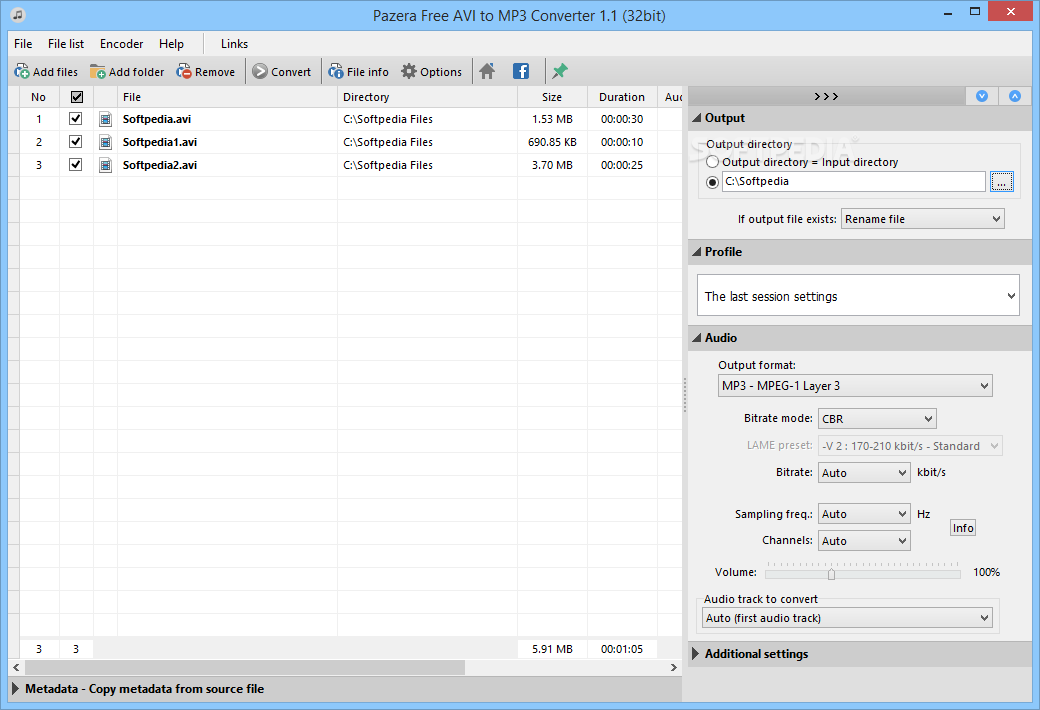 Download Pazera Free AVI to MP3 Portable 1 3