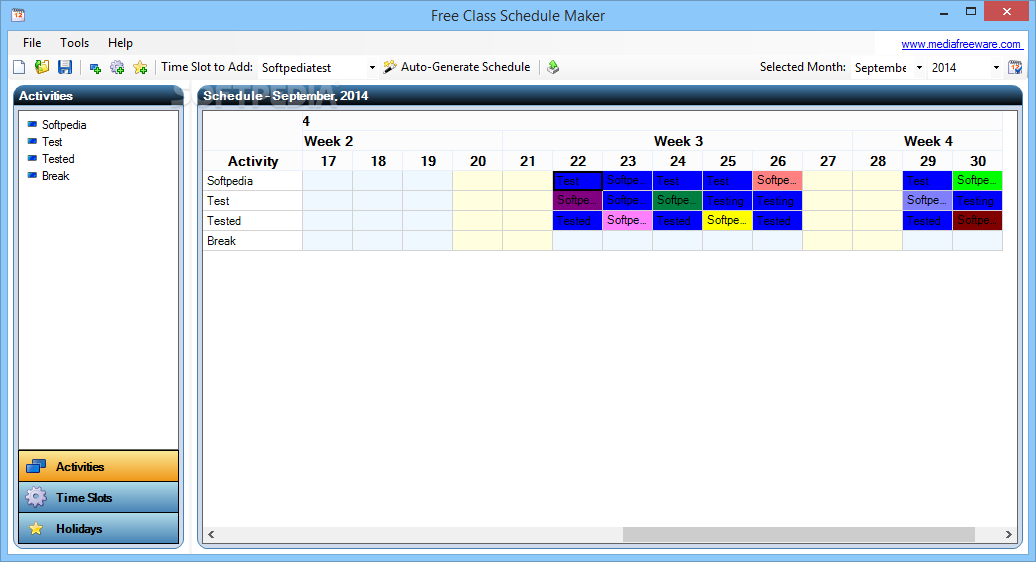 free student schedule maker