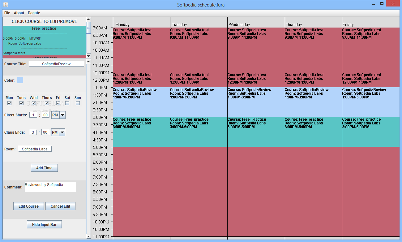 download free college schedule maker 1.0