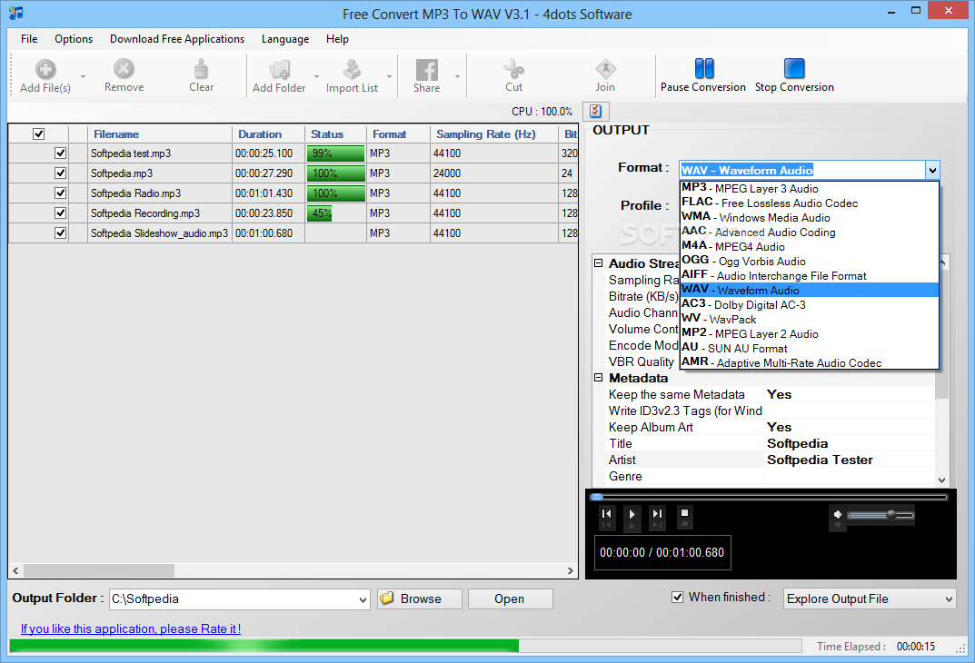 WAV to MP3 - Convert your WAV to MP3 for Free Online