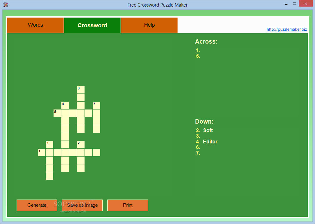 Download Free Crossword Puzzle Maker 1 0