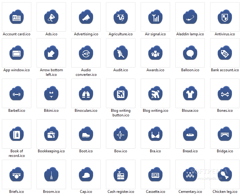 Free Dark Blue Cloud Icons Download