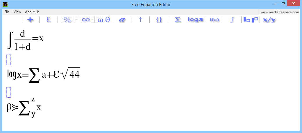 Mathtype Equation Editor