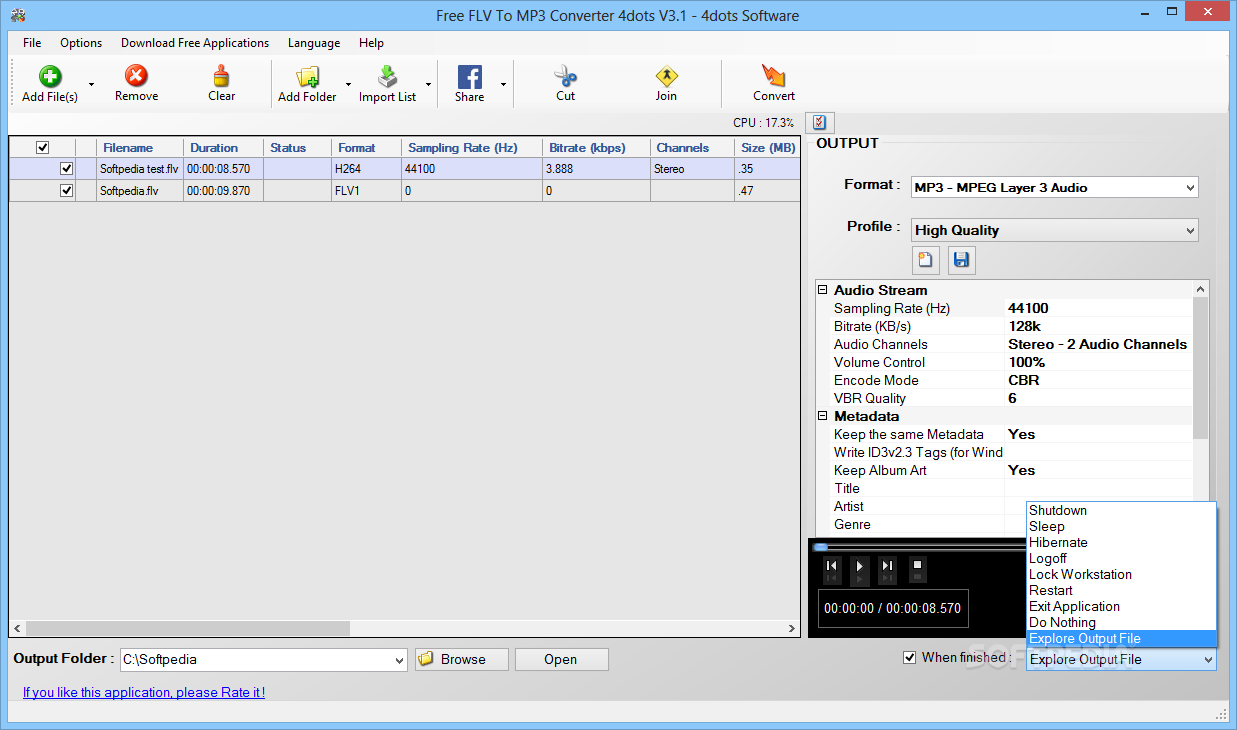 Download Free FLV To MP3 Converter 3 1